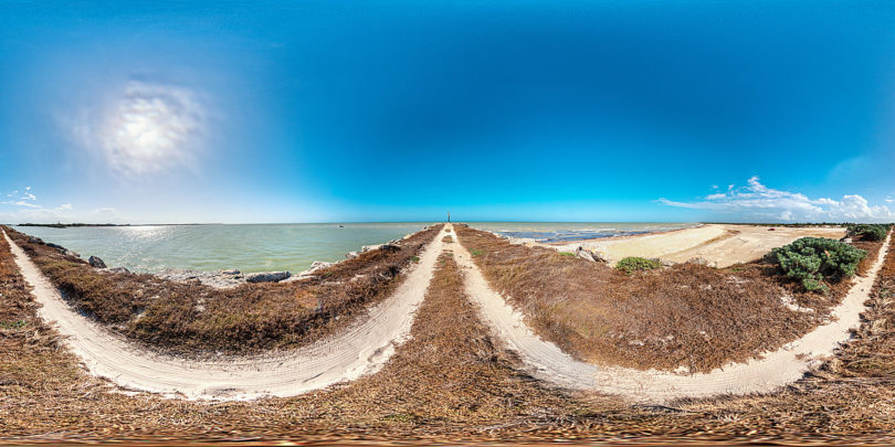 Strand von Chuburna in Yucatán, Mexiko