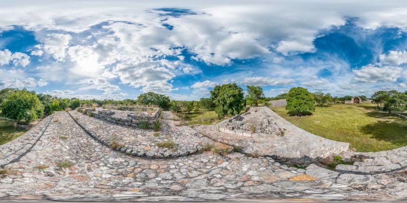 Archäologische Stätte von Dzibilchaltún, Mérida, Yucatán in Mexiko