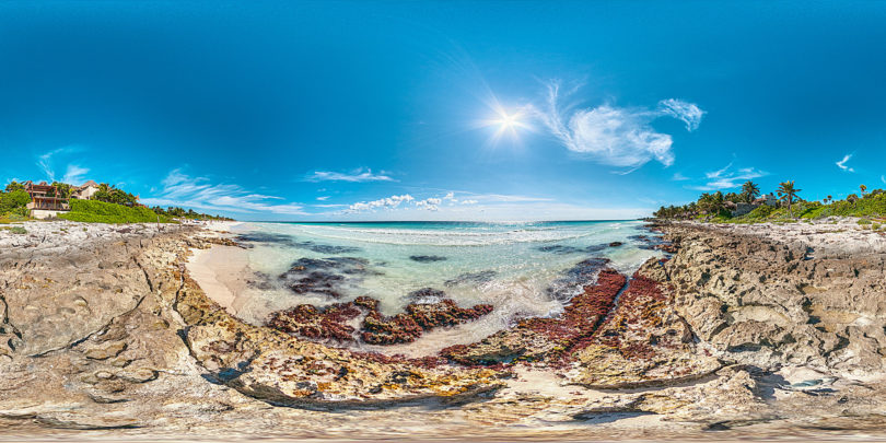 Strand von Tulum in Mexiko