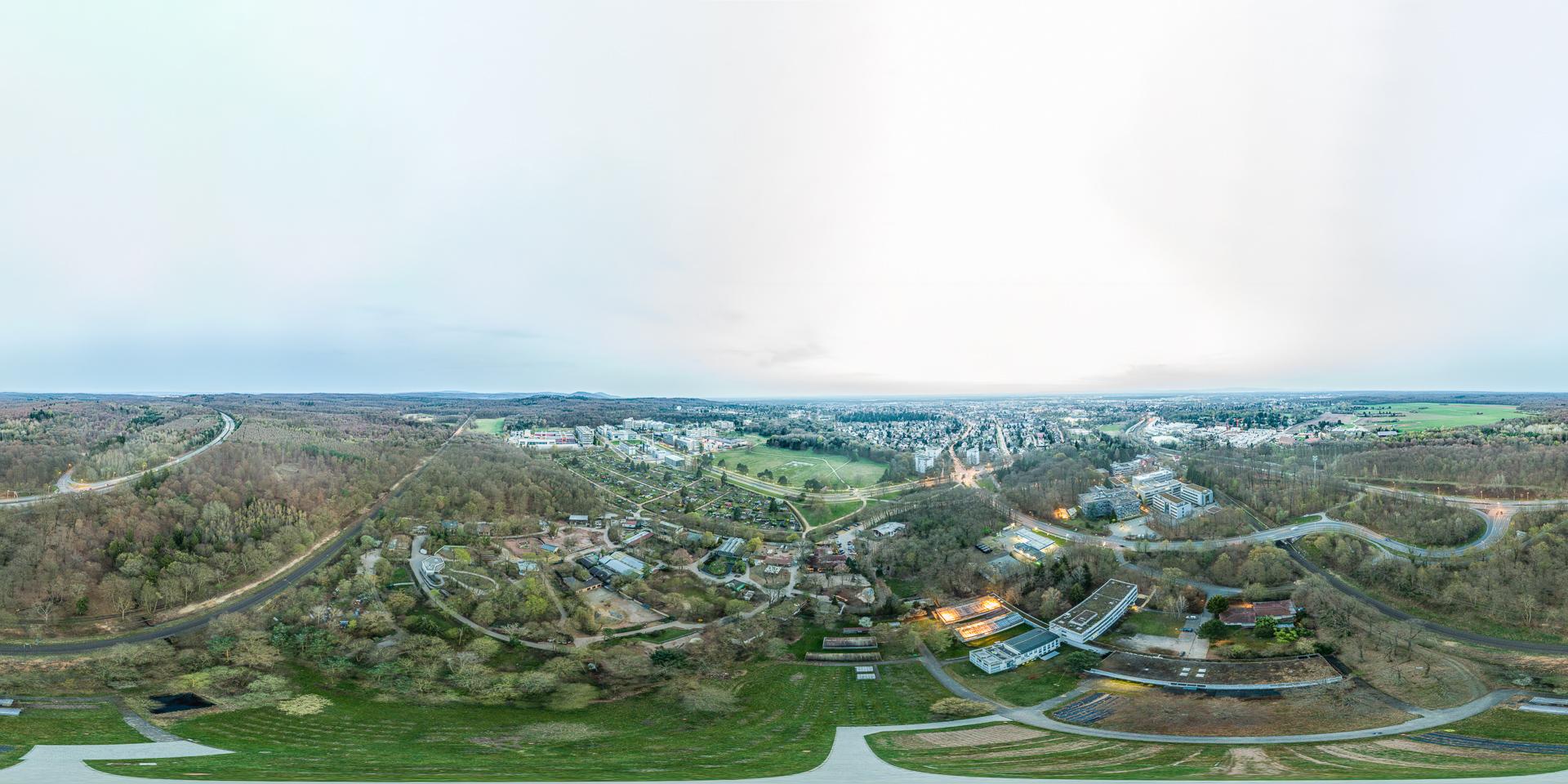 Vivarium- Darmstadt Luftaufnahme